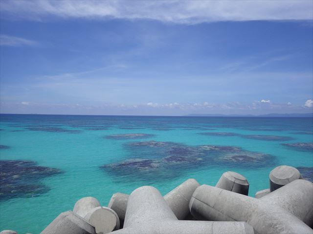 防波堤から見た海