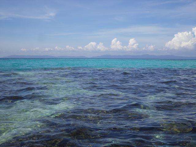 サンゴ礁の境目