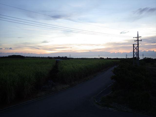 波照間の夕焼け(曇り)