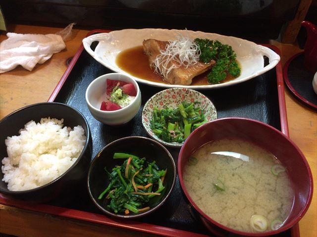 赤魚煮定食