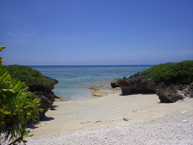 珊瑚の浜から見た風景