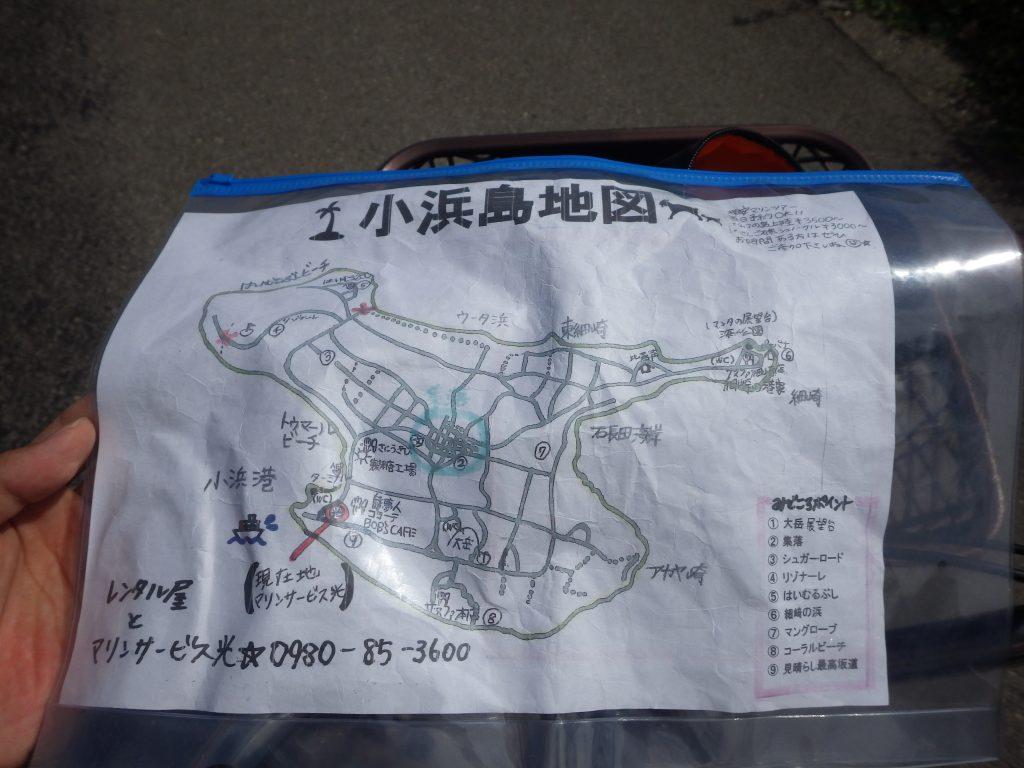 小浜島の地図