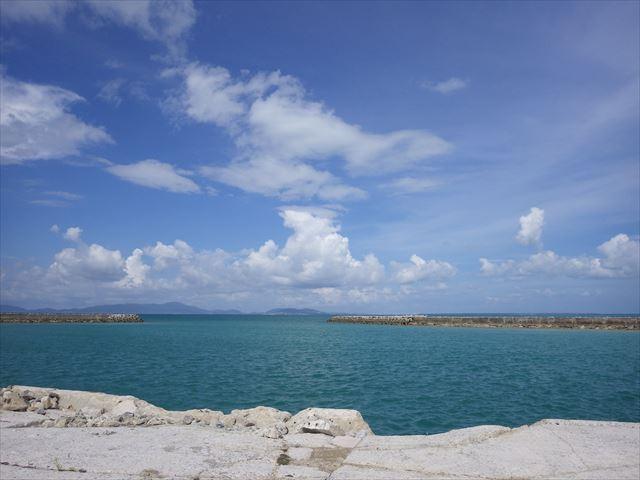 港からの景色-小浜島