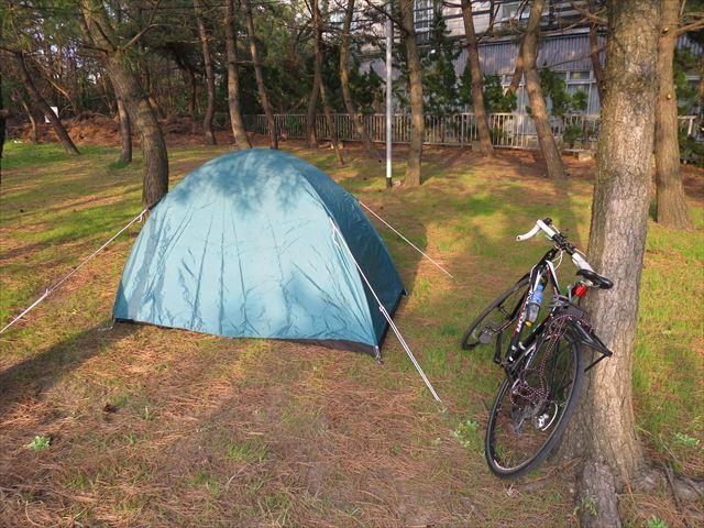 自転車キャンプツーリング